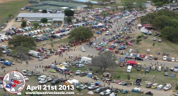 2013 Texas VW Classic Aerial Photo