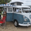 Merlin (#1210) - 1967 Dove Blue & White Bus (Split Window) Camper (1967 Westfalia Camper)