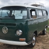 THE GREEN MACHINE (#1316) - 1970 Green & white Bus (Bay Window) Camper