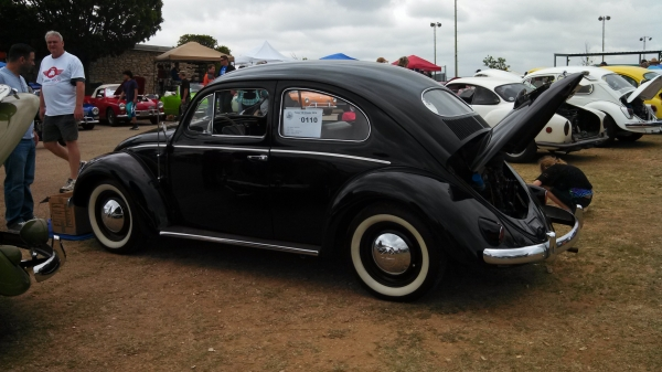 #0110 - 1955 Black Beetle - Split/Oval (Stock bug, restored.)